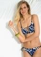 Morhipo Beach Desenli Bikini Üst Mavi
